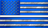 American Flag Thin White Line Wholesale Novelty Metal Magnet