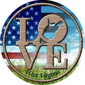 Love West Virginia Wholesale Novelty Metal Circular Sign