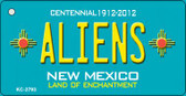 Aliens New Mexico Teal Wholesale Novelty Key Chain