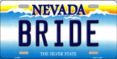 Bride Nevada Background Novelty Wholesale Metal License Plate