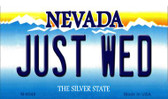 Just Wed Nevada Background Wholesale Novelty Metal Magnet