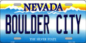 Boulder City Nevada Background Novelty Wholesale Metal License Plate