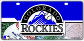 Colorado Rockies Wholesale Metal Novelty License Plate LP-5605