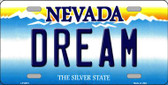 Dream Nevada Background Novelty Wholesale Metal License Plate