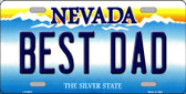 Best Dad Nevada Background Novelty Wholesale Metal License Plate