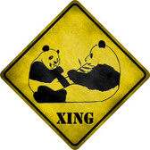 Pandas Xing Wholesale Novelty Metal Crossing Sign