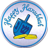 Happy Hanukkah Dreidel Wholesale Novelty Metal Circular Sign
