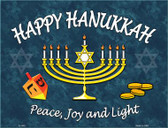Happy Hanukkah Wholesale Metal Novelty Parking Sign