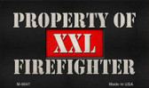 Property Of Firefighter Wholesale Novelty Metal Magnet