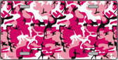 Pink Camouflage Background Wholesale Metal Novelty License Plate