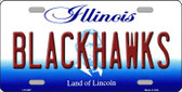 Blackhawks Illinois State Background Novelty Wholesale Metal License Plate LP-2287
