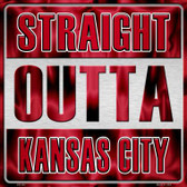 Straight Outta Kansas City Wholesale Novelty Metal Square Sign