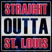 Straight Outta St Louis Wholesale Novelty Metal Square Sign
