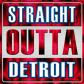 Straight Outta Detroit Wholesale Novelty Metal Square Sign
