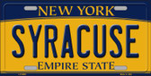 Syracuse New York Background Wholesale Metal Novelty License Plate