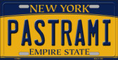 Pastrami New York Background Wholesale Metal Novelty License Plate