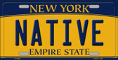 Native New York Background Wholesale Metal Novelty License Plate