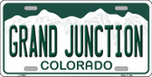 Grand Junction Colorado Background Wholesale Metal Novelty License Plate