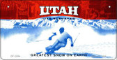 Utah Novelty State Background Bicycle License Plate