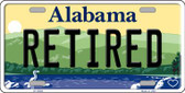 Retired Alabama Background Wholesale Metal Novelty License Plate