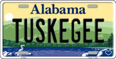 Tuskegee Alabama Background Wholesale Metal Novelty License Plate