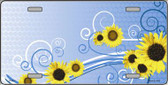 Sunflowers Wholesale Metal Novelty License Plate LP-2341