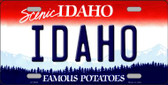 Idaho Background Wholesale Metal Novelty License Plate