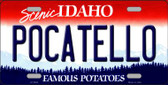 Pocatello Idaho Background Wholesale Metal Novelty License Plate