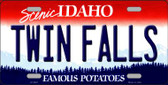 Twin Falls Idaho Background Wholesale Metal Novelty License Plate