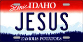 Jesus Idaho Background Wholesale Metal Novelty License Plate