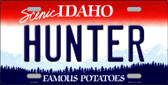 Hunter Idaho Background Wholesale Metal Novelty License Plate
