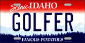 Golfer Idaho Background Wholesale Metal Novelty License Plate