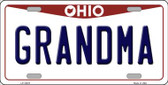 Grandma Ohio Background Wholesale Metal Novelty License Plate
