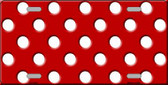 White Polka Dots Red Wholesale Metal Novelty License Plate LP-2352