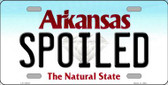 Spoiled Arkansas Background Wholesale Metal Novelty License Plate