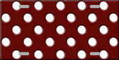 White Polka Dots Burgundy Background Wholesale Metal Novelty License Plate LP-2355