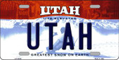 Utah Background Wholesale Metal Novelty License Plate