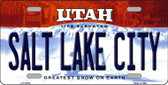 Salt Lake City Utah Background Wholesale Metal Novelty License Plate