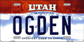 Ogden Utah Background Wholesale Metal Novelty License Plate