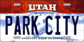 Park City Utah Background Wholesale Metal Novelty License Plate