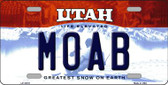 Moab Utah Background Wholesale Metal Novelty License Plate