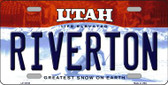 Riverton Utah Background Wholesale Metal Novelty License Plate