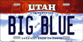Big Blue Utah Background Wholesale Metal Novelty License Plate