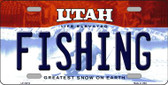 Fishing Utah Background Wholesale Metal Novelty License Plate