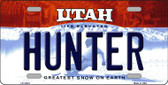 Hunter Utah Background Wholesale Metal Novelty License Plate