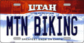 Mtn Biking Utah Background Wholesale Metal Novelty License Plate