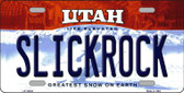 Slickrock Utah Background Wholesale Metal Novelty License Plate