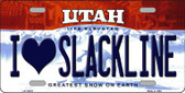 I Love Slackline Utah Background Wholesale Metal Novelty License Plate