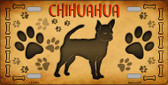 Chihuahua Novelty Wholesale Metal License Plate