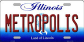 Metropolis Illinois Background Wholesale Metal Novelty License Plate